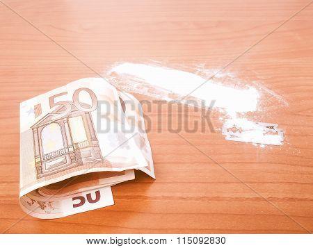 Cocaine Powder Vintage