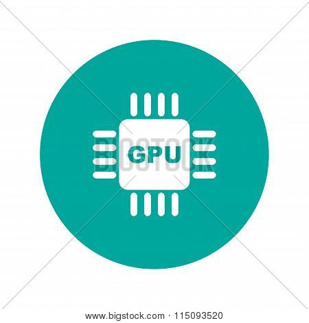 Circuit Board  Icon. Technology Scheme Square Symbol