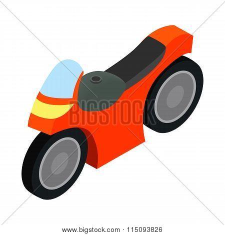 Motorcycle racing isometric 3d icon