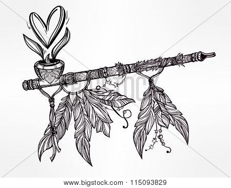Pagan Indian smoking pipe of love and peace.