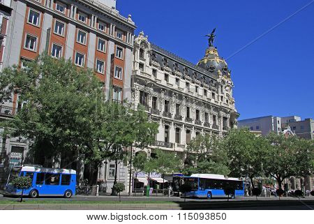 Madrid, Spain - August 23, 2012: View Of The Calle Alcala In Madrid