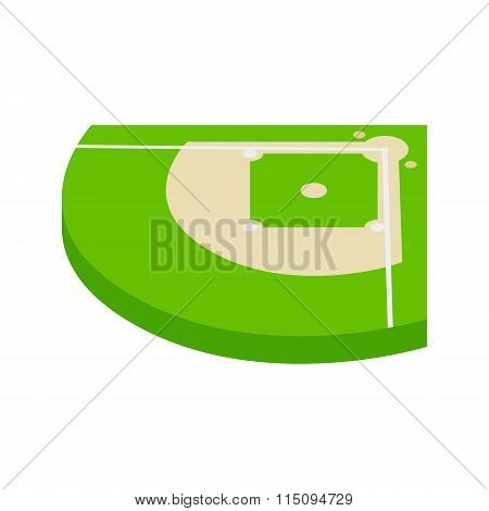 Baseball field isometric 3d icon