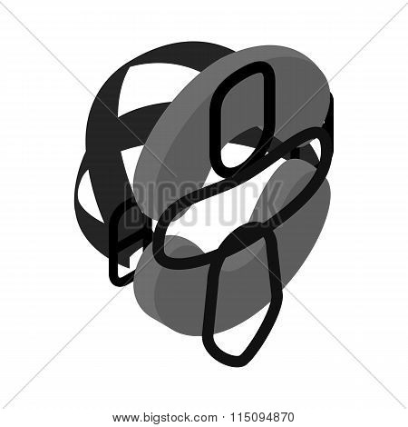Protective mask for baseball isometric 3d icon