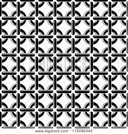 Vector Black And White Seamless Chain Pattern