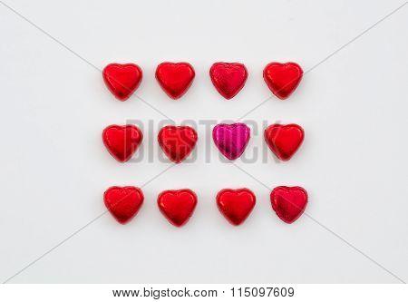 Love Heart Valentine Chocolates