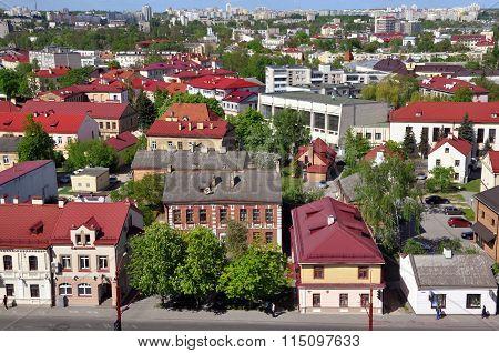 Grodno top view, Belarus