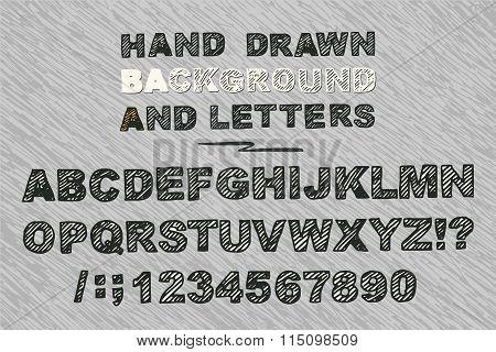 vector bold alphabets