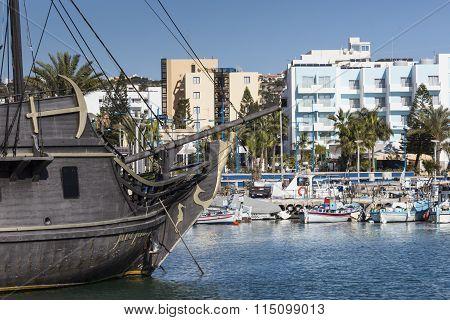 Fishing Boats In Port. Cyprus. Aja-napa.