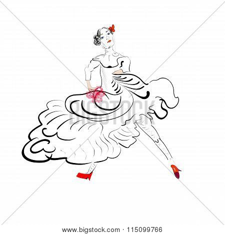 Tango Dancer Silhouette