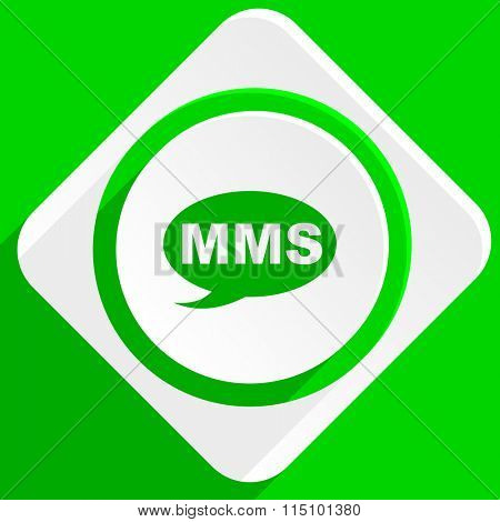mms green flat icon