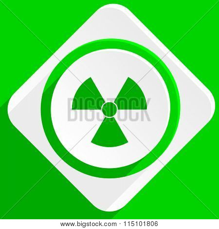 radiation green flat icon
