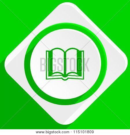 book green flat icon