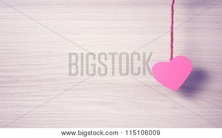 Red paper heart.
