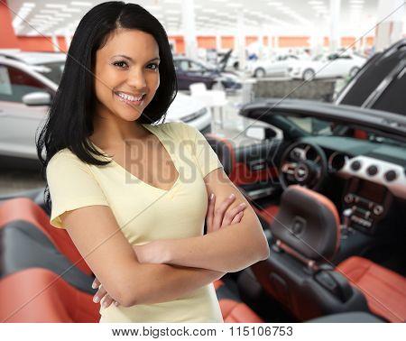 Car dealer woman.