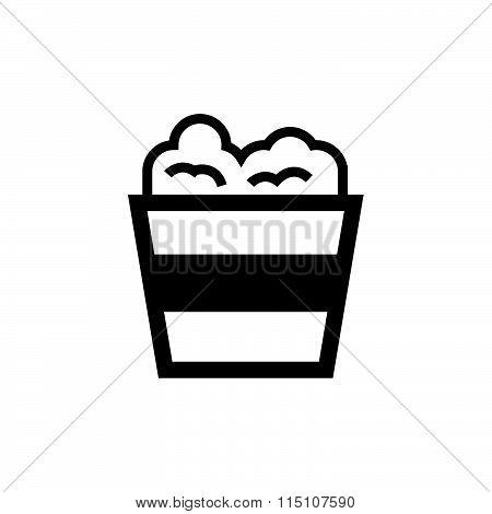 Vector Popcorn Icon