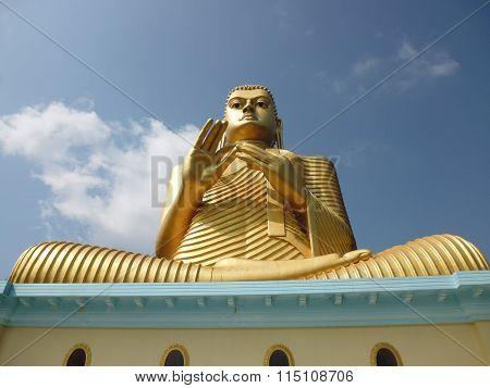 Giant Golden Buddha In Dambulla