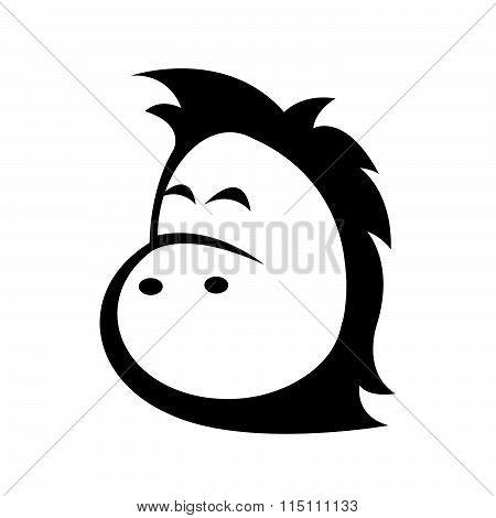 Horse Head - Vector Icon Isolated