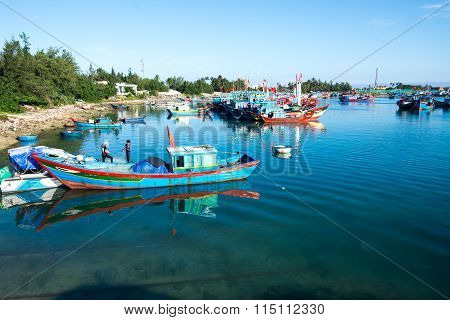 Beautiful seascape in Ly Son island in Quang Ngai, Vietnam.