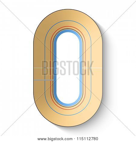 Velodrome, cycle track vector illustration