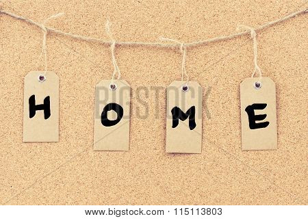 Vintage Grunge Tags With Word Home