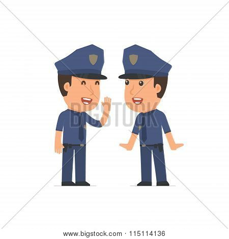 Cunning Character Officer Gossiping And Telling Secret To His Friend
