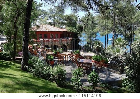 Terrace Of Restaurant In Marmaris.