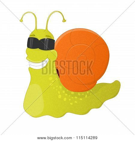 Childish Snail In Sunglasses