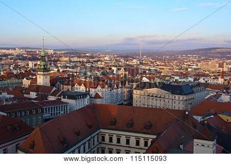 Panorama Of The City Of Brno In The Czech Republic