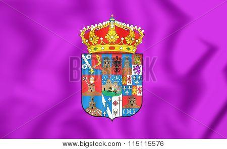 Flag Of Guadalajara Province, Spain.