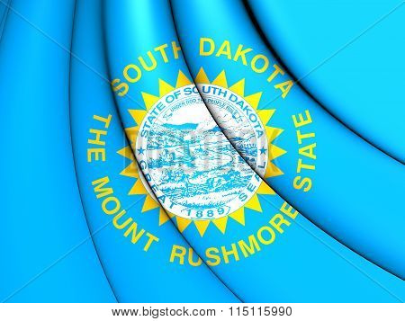 Flag Of South Dakota, Usa.