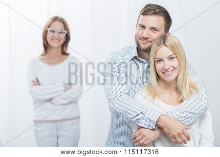 Happy Wife With Husband