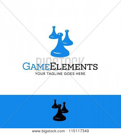 game tokens logo for gaming related business, organization or website