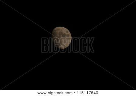 The Moon In The Dark Sky
