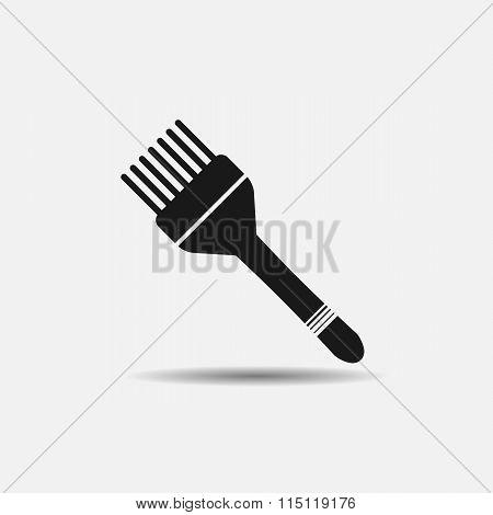 Brush Hair Dye Black Icon