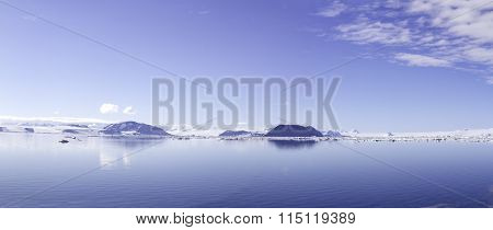 Cloudscape reflected in Antarctic Sound
