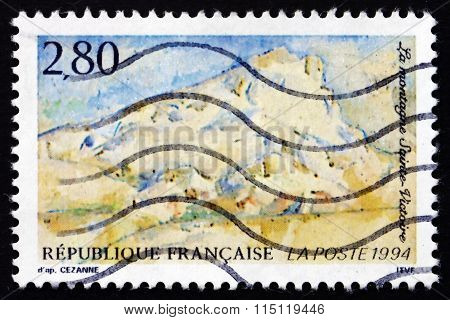 Postage Stamp France 1994 Mount St. Victoire, By Cezanne