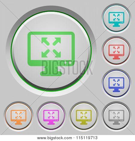 Fullscreen View Push Buttons