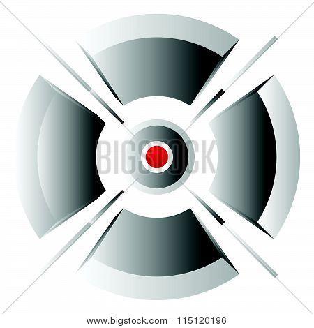 Crosshair, Cross-hair, Target Mark Vector Icon. Precision, Accuracy Concepts.