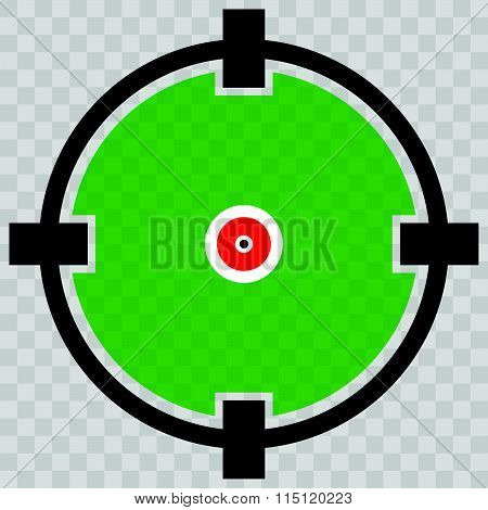 Cross Hair, Target Mark, Circular Reticle Vector Illustration.