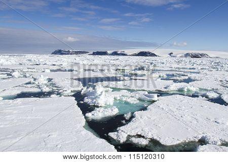 Sea of field ice, Antarctica