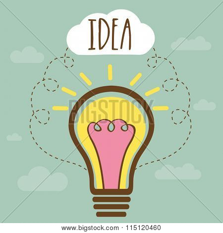 Idea concept with illustration of creative light bulb for Business.