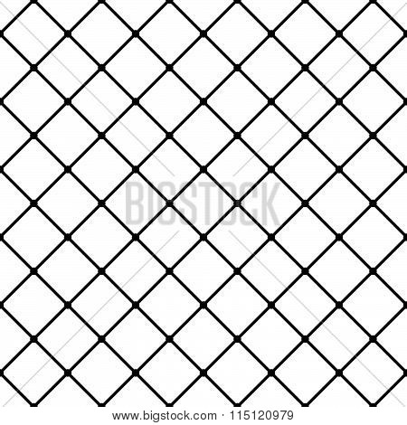 Monochrome Grid, Mesh Background, Seamless Pattern. Vector.