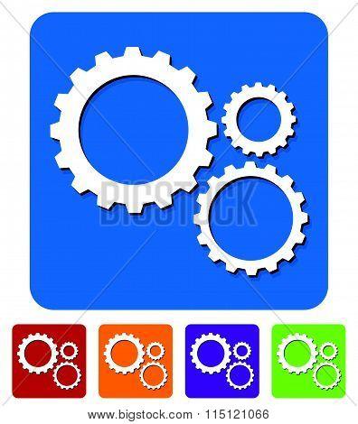 Gear Wheel, Gear, Cogwheel Graphic. Vector Illustration For Development, Industrial Subjects
