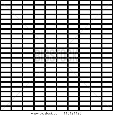 Seamless Monochrome Pattern With Rectangles Shapes. Abstract, Grayscale Background.