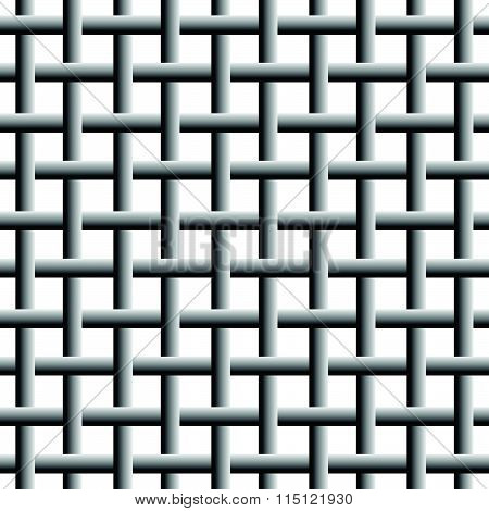 Trellis, Grid, Mesh Background. Overlapping, Weaved Lines.