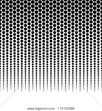 Halftone, Dotted Vector Pattern, Background. (horizontally Seamless.)