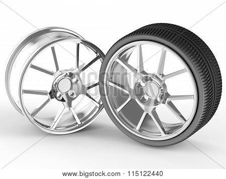 Car wheel and alloy rim