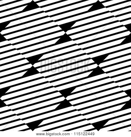 Seamless, Repeatable Geometric Pattern With Diagonal Lines. Monochrome Texture.