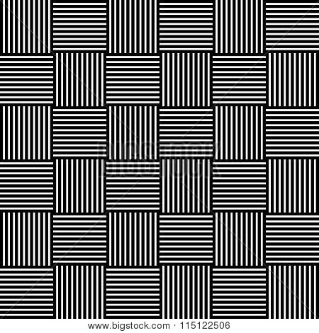 Abstract Monochrome Background With Lined Squares. Repeatable Pattern