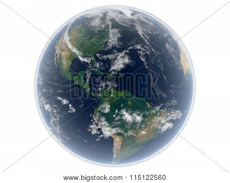 Render of the earth